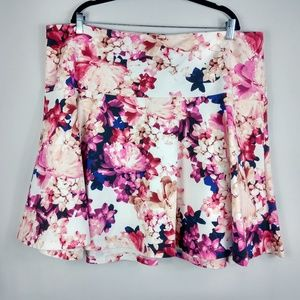 Lane Bryant Floral BEAUTIFUL A-Line Skirt Size 24